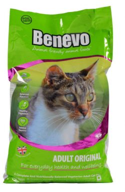 Adopt a Vegan or Vegetarian Diet Benevo Vegan Adult Cat Food
