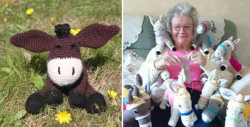 Crochet or Knit a Neddy or Wolley the Donkey Toy