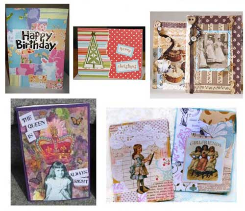 Covered Collage Cards