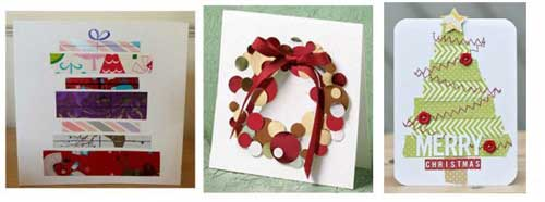 Examples of Recycled Christmas Cards