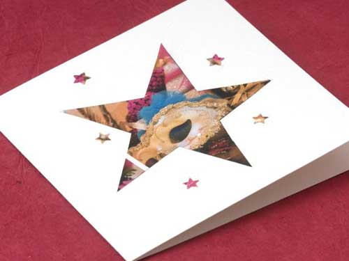 Recycle Christmas Cards Greetings Cards Gift Tags Wrapping Paper Glue Down Stars in Your Design
