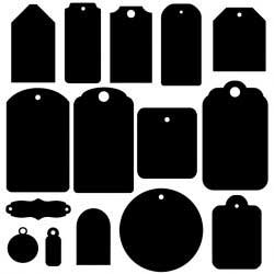 Recycle Christmas Cards Greetings Cards Gift Tags Wrapping Paper Use Silhouette Pictures of Gift Tag Shapes to Make Templates
