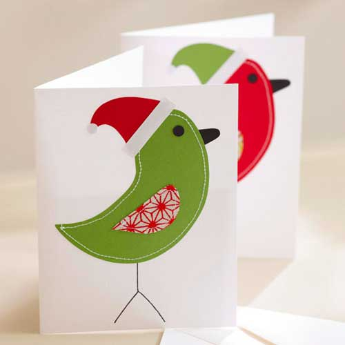 Recycle Christmas Cards Greetings Cards Gift Tags Wrapping Paper Use Stitching in Your Card Design