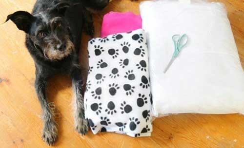 No Sew Dog or Cat Bed Materials