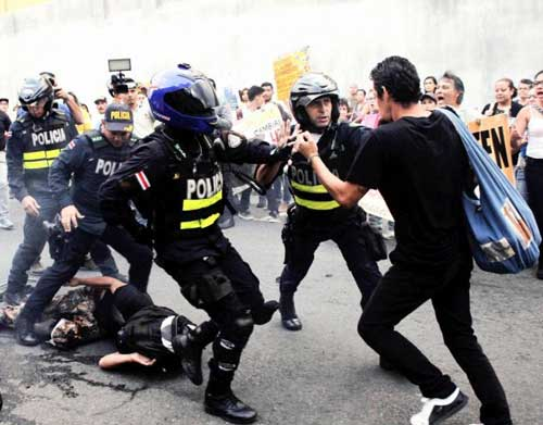 Animal Rights Protest Turning Violent
