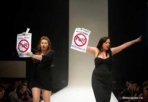 Help Stop Animal Abuse With Protests and Demonstrations Fur Protester's on a Cat Walk