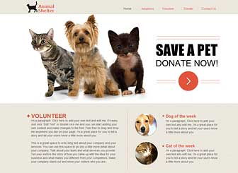 Wix Animal Rescue Website