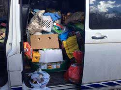 About Van Full Of Supplies For A Rescue In Eastern Europe