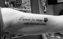 Tattoo Against Animal Abuse