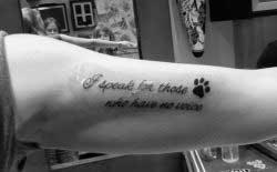 Tattoo Against Animal Abuse
